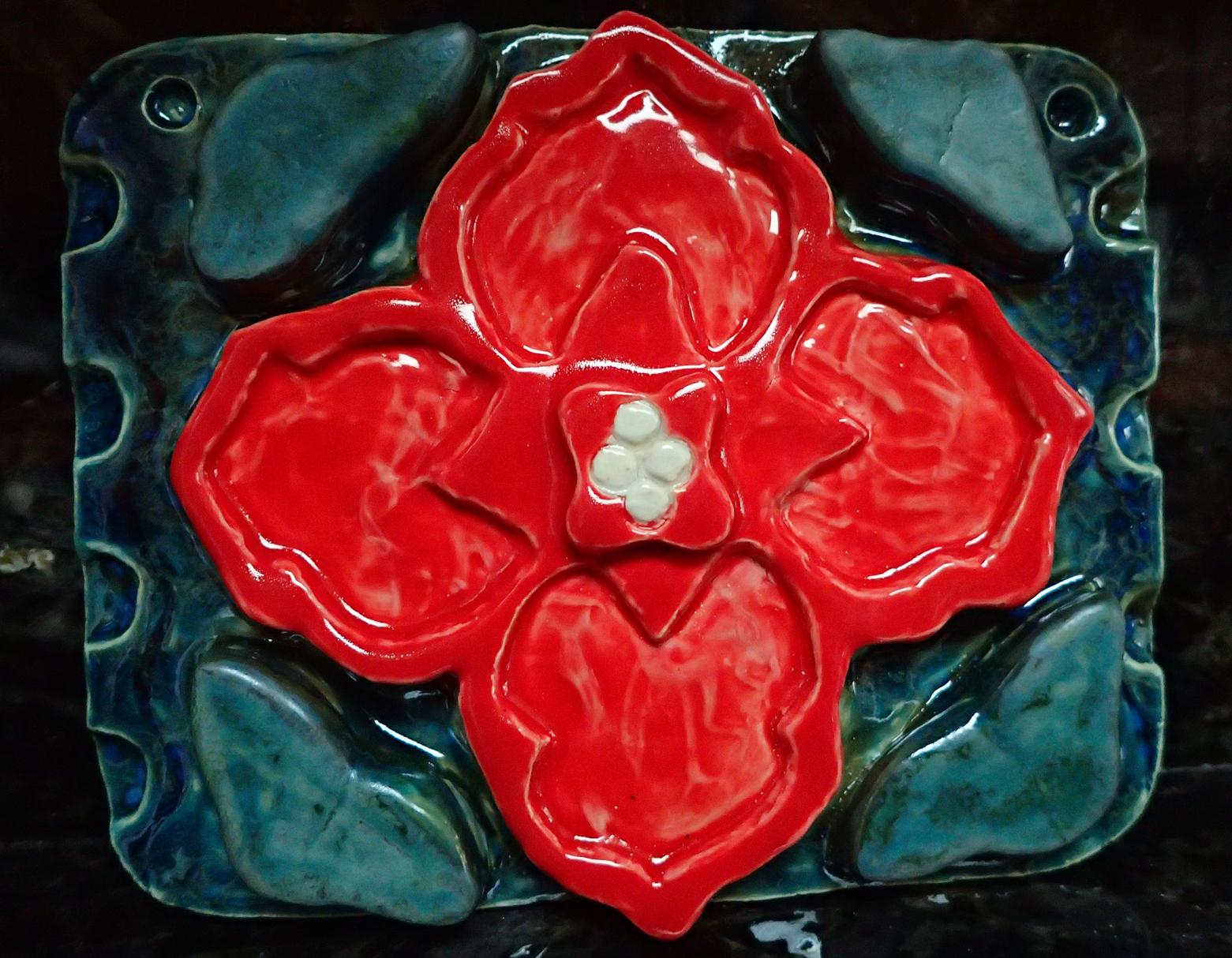 The Red Flower Tile