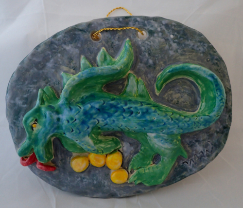 Ceramic Wall Art Dragon Mother #88